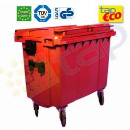 Cassonetto per rifiuti con 4 ruote 770 litri rosso