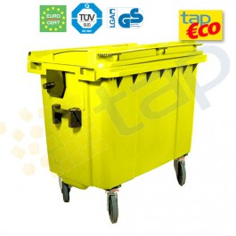 Cassonetti per rifiuti con 4 ruote 770 litri giallo