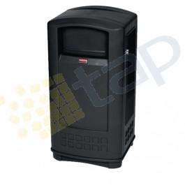 Contenitore per la raccolta di residui, con serratura, colore nero.