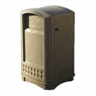 Contenitore per la raccolta di residui, con serratura, colore beige.