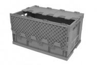 Cassetta di plastica pieghevole 60 litri con coperchio