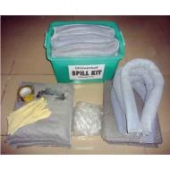 Kit di intervento con assorbente universale grigio