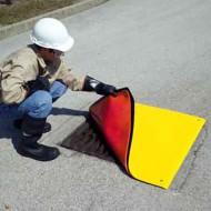 Tappeto copri tombino rinforzato a doppio strato 458x1474 mm.