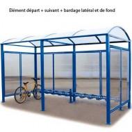 Struttura coperta per le biciclette - Elemento di base senza laterali