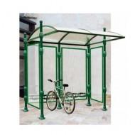 Manicotto di fissaggio in lamiera per struttura coperta per biciclette