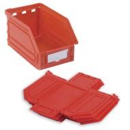 Cassetta rossa con apertura Kangourou pieghevole da 0.9 litri