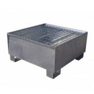 Vasca di ritenzione zincata per 1 fusto con griglia Wireline®