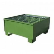 Vasca di ritenzione verniciata verde per 1 fusto con griglia Wireline®
