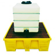 Vasca di raccolta in PEAD per 1 GRG/IBC - Griglia PEAD