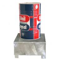 Vasca di contenimento zincata per 1 fusto con griglia