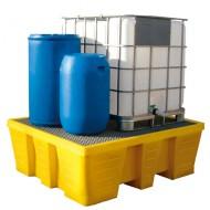 Vasca di raccolta in PEAD per 1 GRG/IBC 1050 lt - Griglia pressata