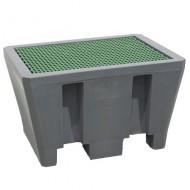 Vasca di ritenzione in PEAD per 1 fusto con griglia in PEAD