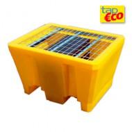 Cassa di raccolta in PEAD per 1 fusto con griglia Wireline®