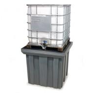 Cassa di raccolta in PEAD per 1 GRG/IBC con griglia di PEAD