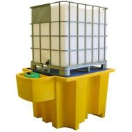 Cassa di raccolta per GRG/IBC con supporto per bidoni integrato