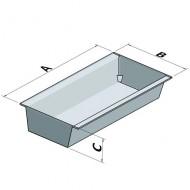 Vasca di raccolta zincata per scaffalatura con griglia