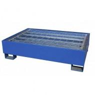 Vasca di ritenzione verniciata di blu per 2 fusti con griglia Wireline®