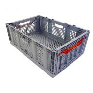 Cassetta di plastica traforata, pieghevole 60 litri senza coperchio