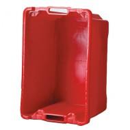 Contenitore  multi uso in plastica da 50 litri rossa