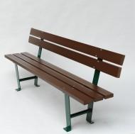 Panchina con 3 tavole di plastica riciclata