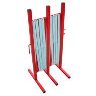 Barriera estensibile in acciaio - Long. a barriera dispiegata: 4 mt