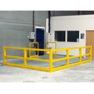 Barriera di protezione componibile - Kit addizionale con palo ad angolo