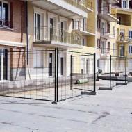 Lotto di 2 barriere verniciate di giallo
