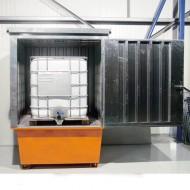 Box di stoccaggio per 1 GRG/IBC zincato