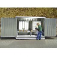 Cassa di stoccaggio per 2 GRG/IBC zincata