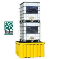 Vasca di raccolta rinforzata in PEAD per 2 GRG/IBC