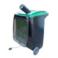 Trituratore bottiglie di vetro per contenitori residui da 240 litri