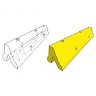Cuneo alto di arresto al suolo di sicurezza pitturato di giallo (B)