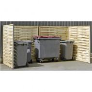 Mascheramenti per contenitori rifiuti dimensione doppia in legno intrecciato