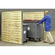Mascheramenti per contenitori rifiuti in legno intrecciato