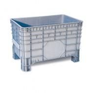 Cassa pallet in plastica con laterali e fondo liscio  285 litri