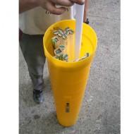 Contenitore per tubi neon esausti, altezza 1595 mm.