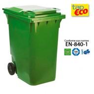 Contenitore  per rifiuti con 2 ruote 360 litri verde