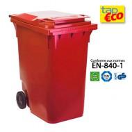 Contenitore per residui 2 ruote rosse