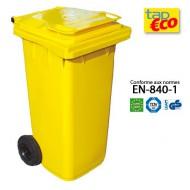 Contenitore  per residui con 2 ruote 360 litri giallo.