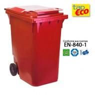 Contenitore  per residui con 2 ruote 360 litri  rosso