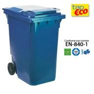 Contenitore  per residui con 2 ruote 360 litri blu.