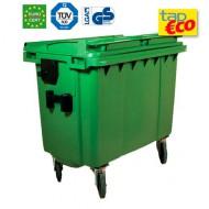 Cassonetti per rifiuti con 4 ruote 660 litri verde