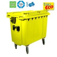 Cassonetti per rifiuti con 4 ruote 1000 litri giallo