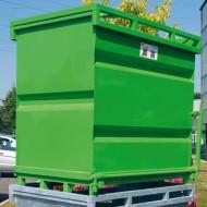 Contenitore con fondo apribile verniciato verde