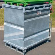 Contenitore con fondo rimovibile 500 litri zincato