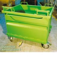 Contenitore con fondo rimovibile 1000 litri verniciato verde
