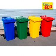 Contenitore per rifiuti con 2 ruote 120 litri, verde.