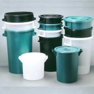 Bac plastique rond 100 Litres Vert