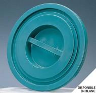 Couvercle bac plastique rond 100/120L Vert