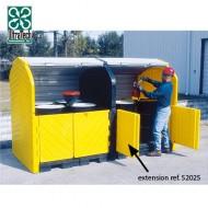 Box di stoccaggio in PEAD per 4 bidoni - modulo di estensione